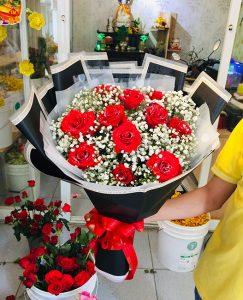 Dịch vụ điện hoa Bình Minh, shop hoa tươi đẹp hoa rẻ đẹp tại Vĩnh Long.