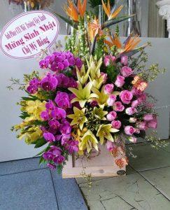 Shop hoa đường Nguyễn Huệ, thành phố Vĩnh Long, hoa tươi rẻ.